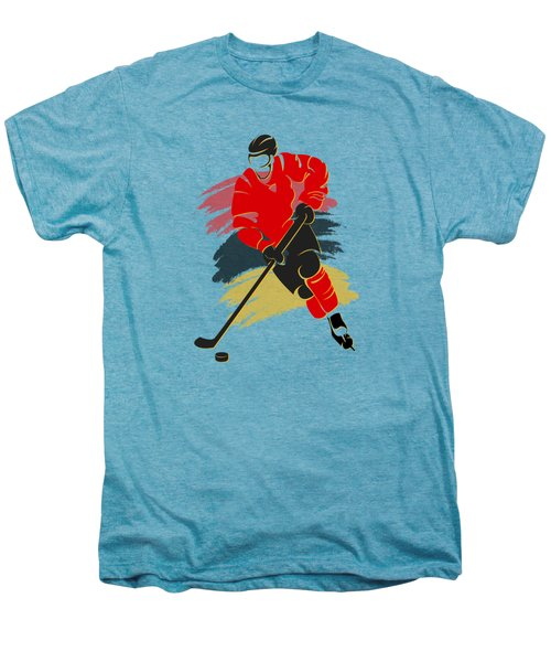 Calgary Flames Player Shirt Men's Premium T-Shirt by Joe Hamilton