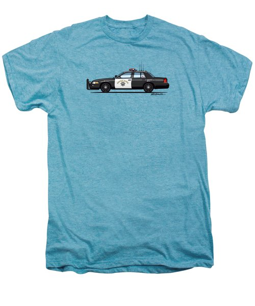 California Highway Patrol Ford Crown Victoria Police Interceptor Men's Premium T-Shirt by Monkey Crisis On Mars