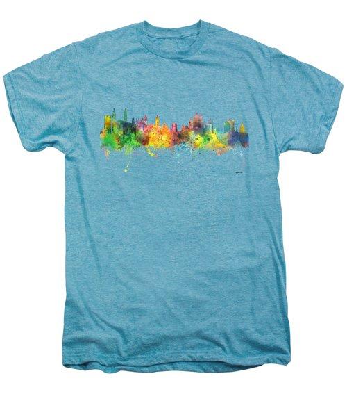 Cambridge England Skyline Men's Premium T-Shirt by Marlene Watson
