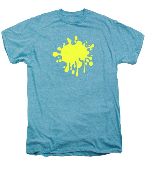 Canary Yellow Solid Color Decor Men's Premium T-Shirt by Garaga Designs