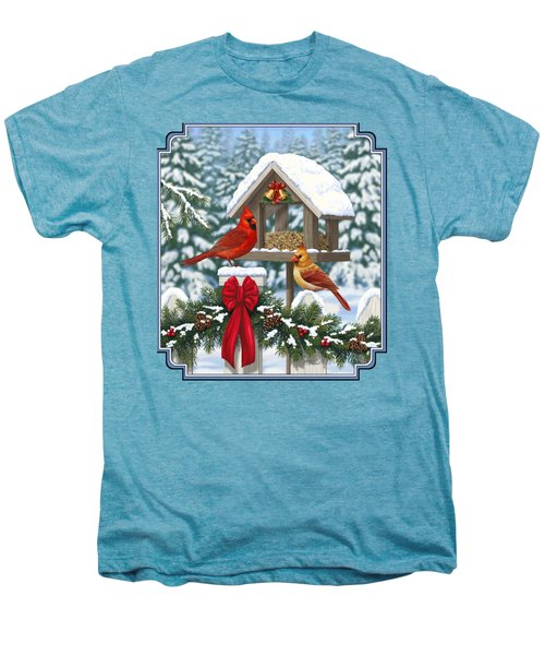 Cardinals Christmas Feast Men's Premium T-Shirt by Crista Forest