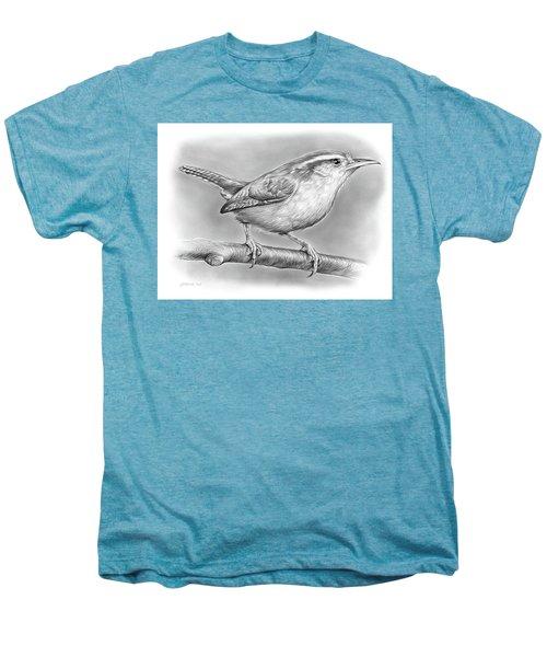 Carolina Wren Men's Premium T-Shirt by Greg Joens
