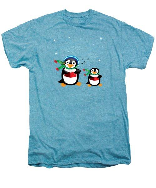 Caroling Penguins Men's Premium T-Shirt by Jane E Rankin