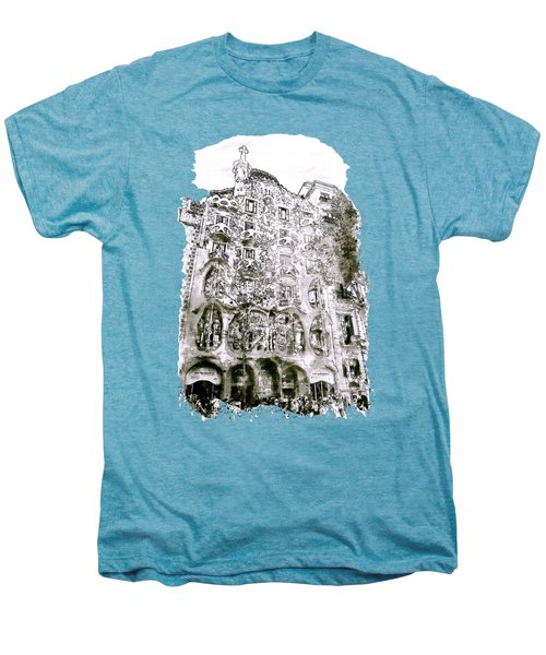 Casa Batllo Barcelona Black And White Men's Premium T-Shirt by Marian Voicu