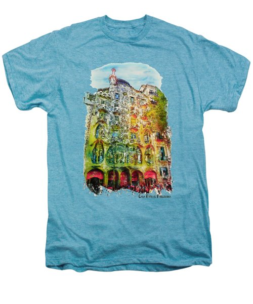 Casa Batllo Barcelona Men's Premium T-Shirt by Marian Voicu