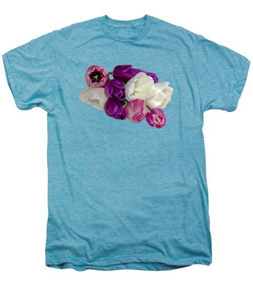 Cascading Tulips Men's Premium T-Shirt by Phyllis Denton