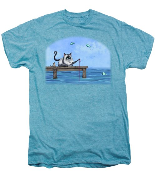 Cat Fish Men's Premium T-Shirt by Temah Nelson
