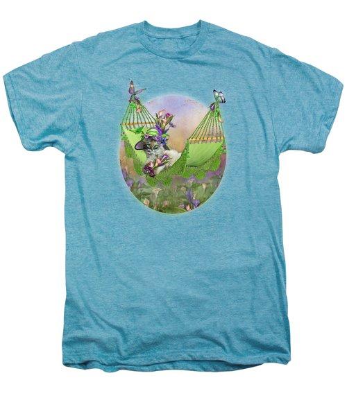 Cat In Calla Lily Hat Men's Premium T-Shirt by Carol Cavalaris