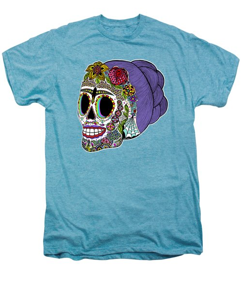 Catrina Sugar Skull Men's Premium T-Shirt by Tammy Wetzel