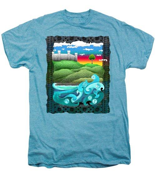 Celtic Castle Tor Men's Premium T-Shirt by Kristen Fox