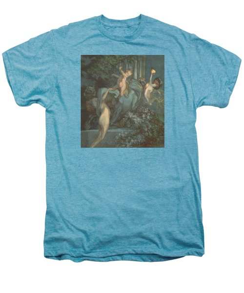 Centaur Nymphs And Cupid Men's Premium T-Shirt by Franz von Bayros