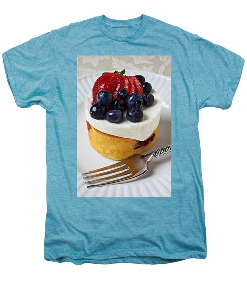 Cheese Cream Cake With Fruit Men's Premium T-Shirt by Garry Gay
