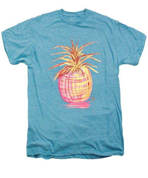 Chic Pink Metallic Gold Pineapple Fruit Wall Art Aroon Melane 2015 Collection By Madart Men's Premium T-Shirt by Megan Duncanson