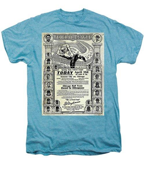 Chicago Cub Poster Men's Premium T-Shirt by Jon Neidert