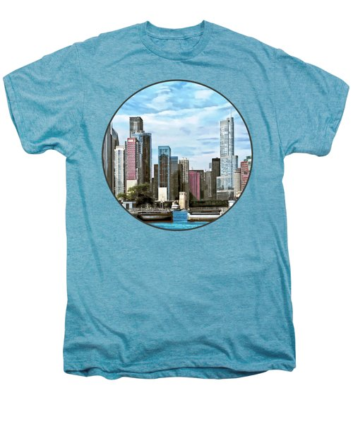 Chicago Il - Chicago Harbor Lock Men's Premium T-Shirt by Susan Savad