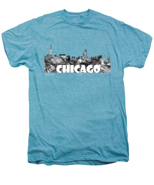 Chicago Illinios Skyline Men's Premium T-Shirt by Marlene Watson