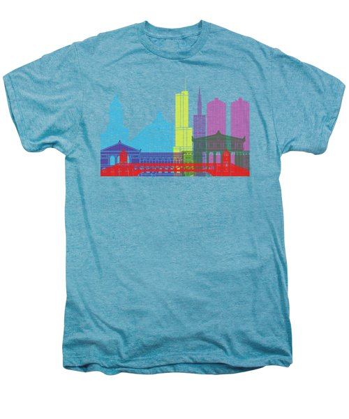 Chicago Skyline Pop Men's Premium T-Shirt by Pablo Romero