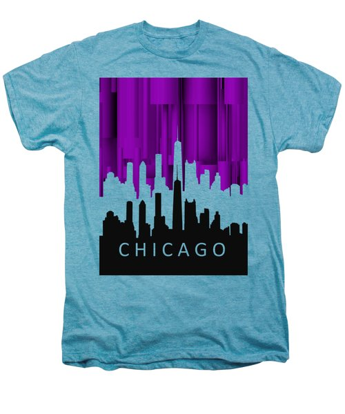 Chicago Violet In Negative Men's Premium T-Shirt by Alberto RuiZ