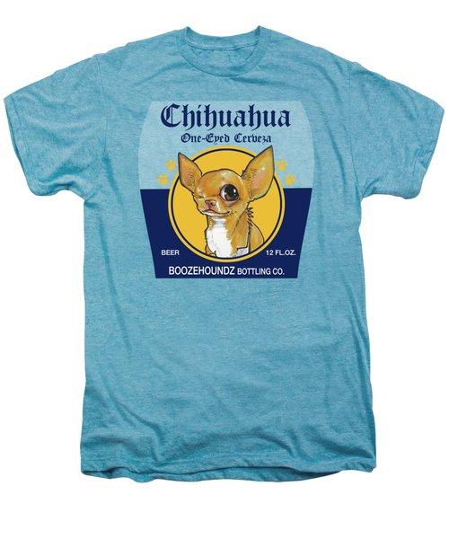 Chihuahua One-eyed Cerveza Men's Premium T-Shirt by John LaFree