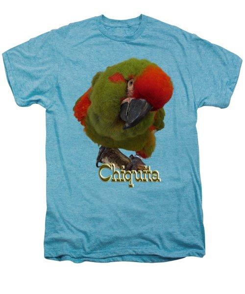 Chiquita, A Red-front Macaw Men's Premium T-Shirt by Zazu's House Parrot Sanctuary