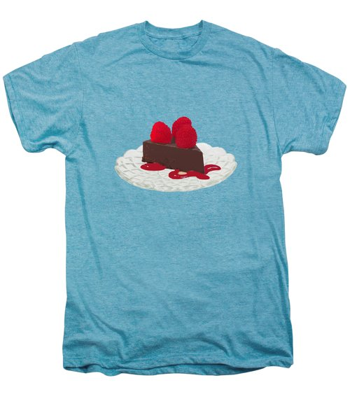 Chocolate Cake Men's Premium T-Shirt by Priscilla Wolfe
