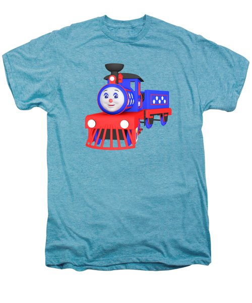 Choo-choo The Train - 1 Men's Premium T-Shirt by Yulia Litvinova