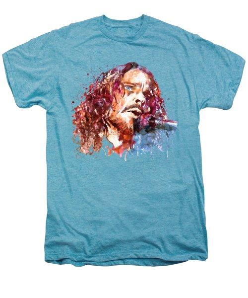Chris Cornell Men's Premium T-Shirt by Marian Voicu
