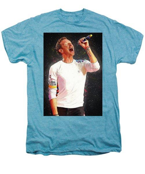 Chris Martin - Coldplay Men's Premium T-Shirt by Semih Yurdabak