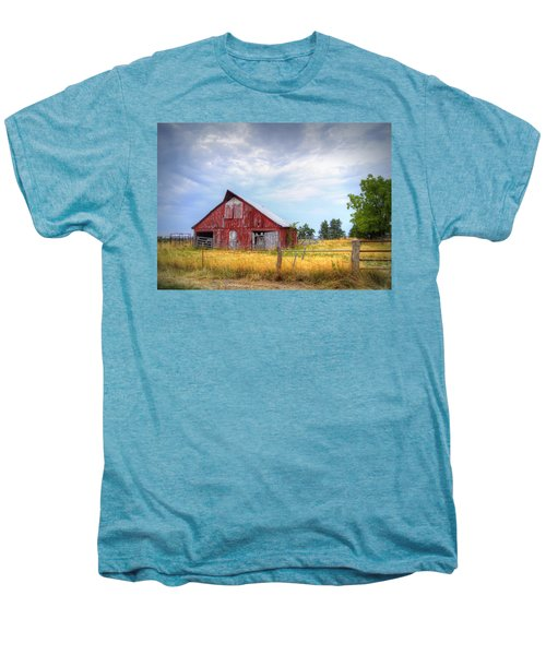 Christian School Road Barn Men's Premium T-Shirt by Cricket Hackmann