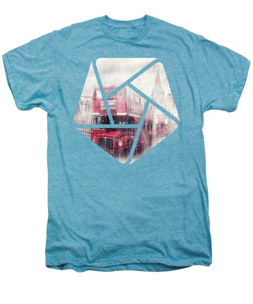 City-art London Westminster Collage II Men's Premium T-Shirt by Melanie Viola