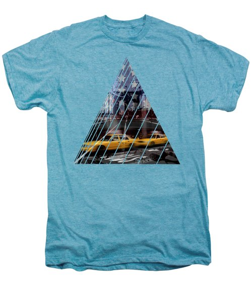City-art Nyc Composing Men's Premium T-Shirt by Melanie Viola