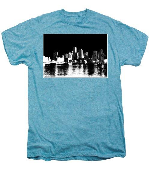 City Of Boston Skyline   Men's Premium T-Shirt by Enki Art