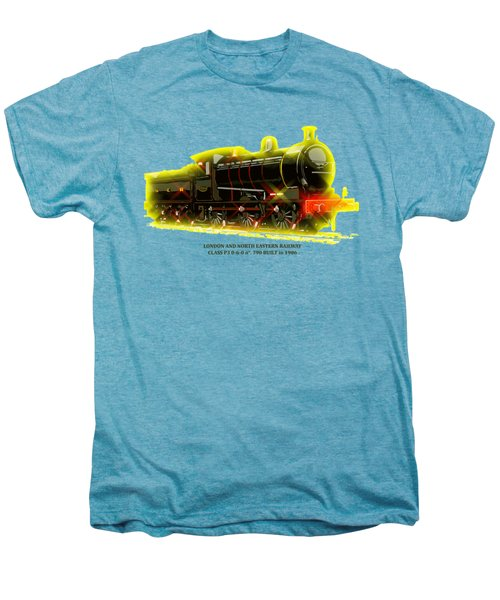 Classic British Steam Locomotive Men's Premium T-Shirt by Heidi De Leeuw