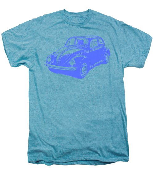Classic Vw Beetle Tee Blue Ink Men's Premium T-Shirt by Edward Fielding