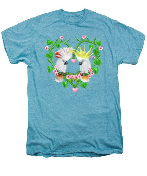 Cockatoos Of The Heart Men's Premium T-Shirt by Glenn Holbrook