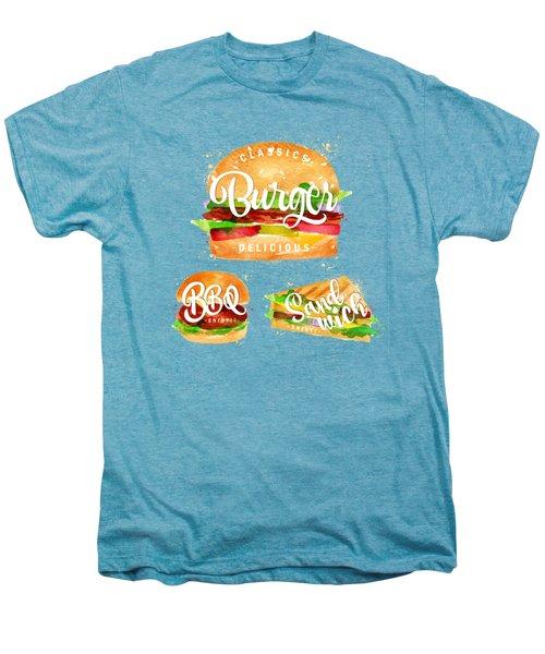 Color Burger Men's Premium T-Shirt by Aloke Design