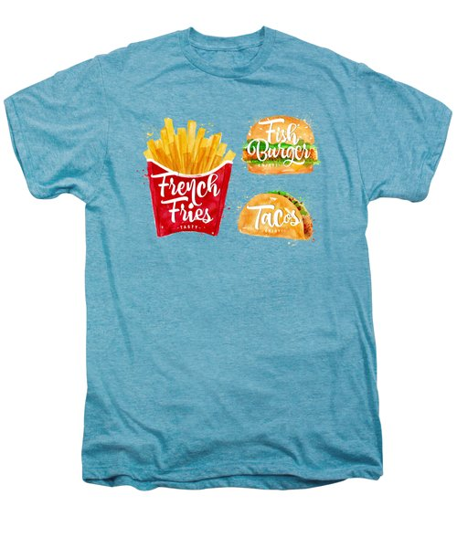 Color French Fries Men's Premium T-Shirt by Aloke Design