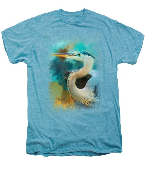 Colorful Expressions Heron Men's Premium T-Shirt by Jai Johnson