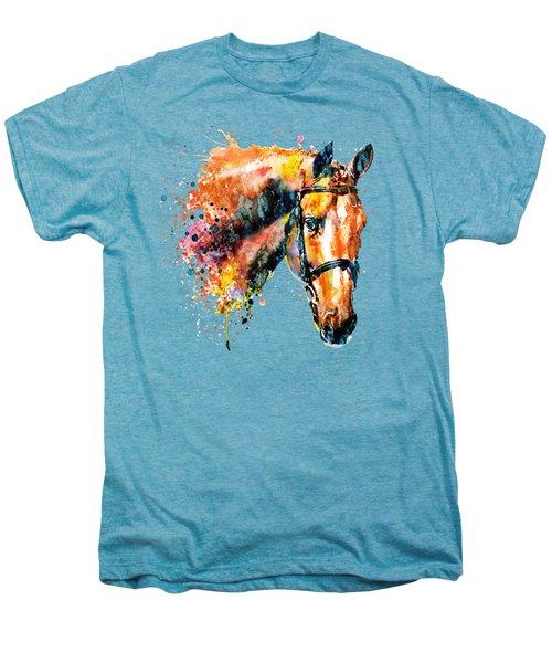 Colorful Horse Head Men's Premium T-Shirt by Marian Voicu