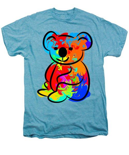 Colorful Koala Men's Premium T-Shirt by Chris Butler