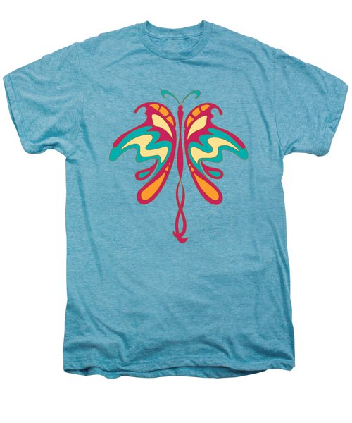 Colourful Art Nouveau Butterfly Men's Premium T-Shirt by Heidi De Leeuw