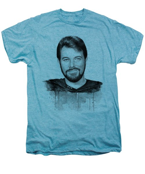 Commander William Riker Star Trek Men's Premium T-Shirt by Olga Shvartsur