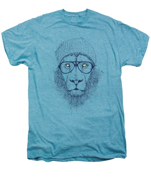 Cool Lion Men's Premium T-Shirt by Balazs Solti
