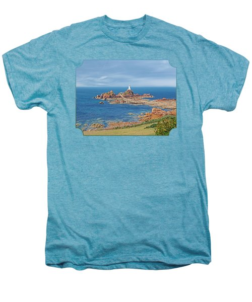 Corbiere Lighthouse Jersey Men's Premium T-Shirt by Gill Billington
