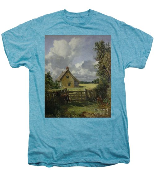 Cottage In A Cornfield Men's Premium T-Shirt by John Constable