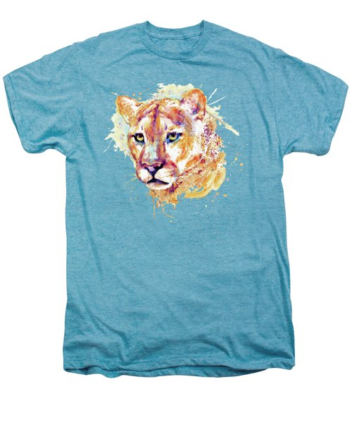 Cougar Head Men's Premium T-Shirt by Marian Voicu