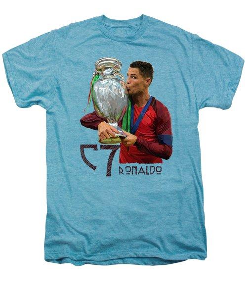 Cristiano Ronaldo Men's Premium T-Shirt by Armaan Sandhu