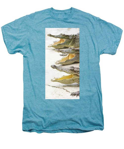 Crocodile Choir Men's Premium T-Shirt by Jorgo Photography - Wall Art Gallery