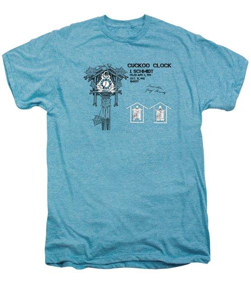 Cuckoo Clock Patent Art Men's Premium T-Shirt by Justyna JBJart