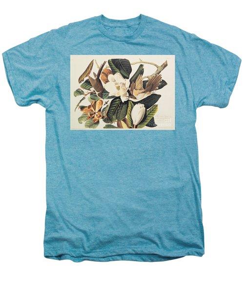 Cuckoo On Magnolia Grandiflora Men's Premium T-Shirt by John James Audubon